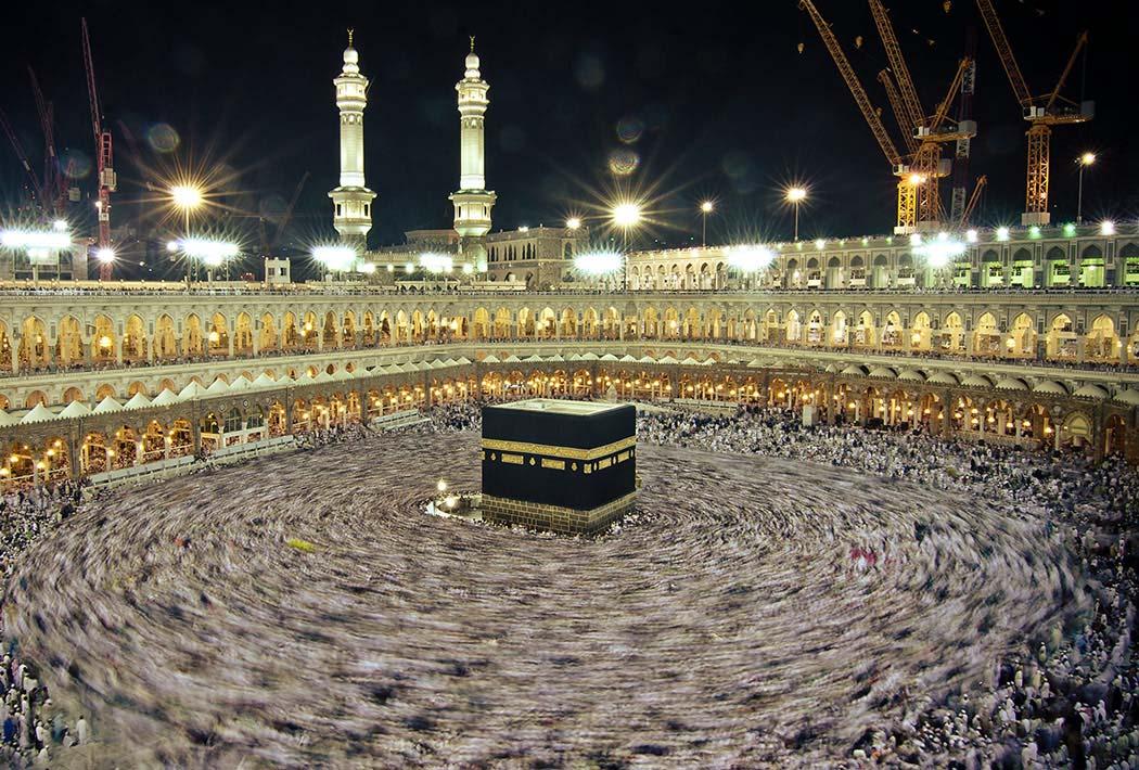 Jemaah haji tawaf di Masjidil Haram