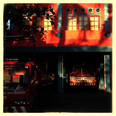 Kantor pemadam kebakaran di Kota Mataram, Nusa Tenggara Barat.