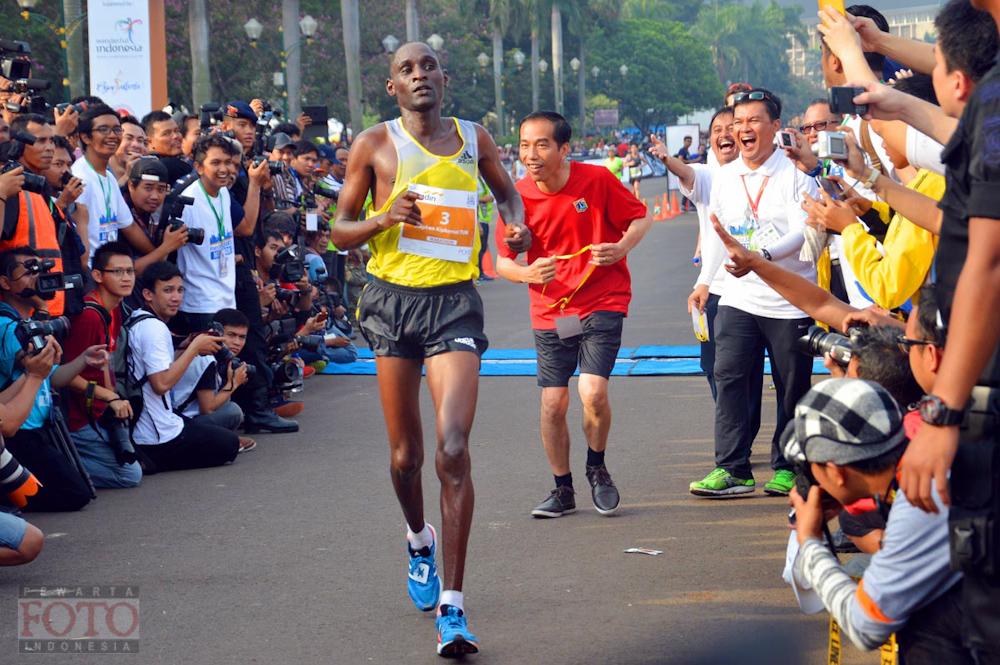 Jokowi Dicuekin Pelari Kenya