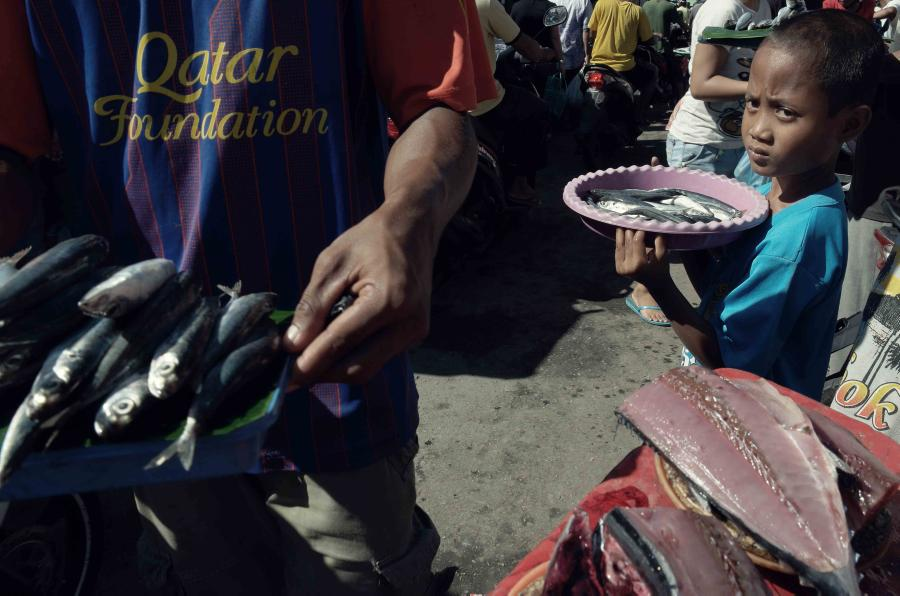Suasana di Pasar Mbongawani, Ende