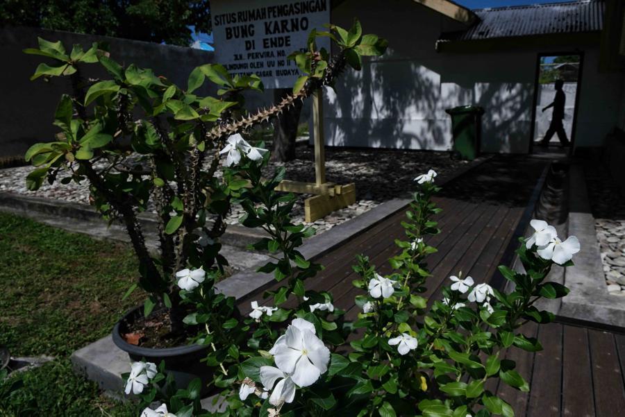 Taman di situs rumah pengasingan Bung Karno di Ende